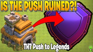 DID THE UPDATE RUIN THE TH7 PUSH TO LEGENDS?! - Clash of Clans