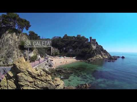 Beaches and coves in Lloret de Mar (Costa Brava)