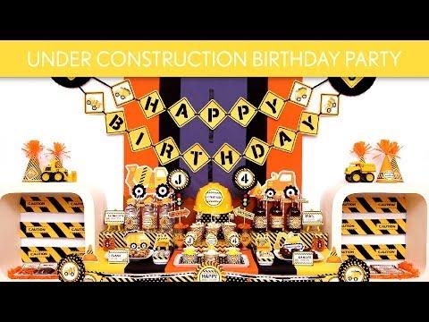 Under Construction Birthday Party Ideas // Under Construction - B109
