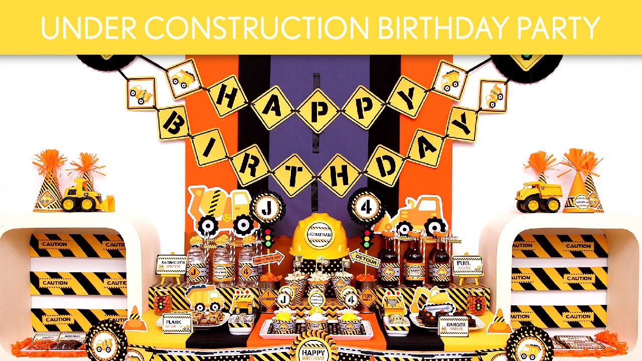 Construction Birthday Party Decorations Under Construction Birthday Party Ideas Under Construction