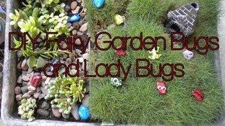 Lady Bug Rocks For The Fairy Garden Diy Pinterest