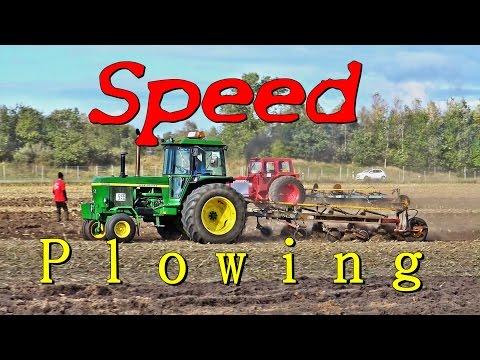 Speed Plowing Laholm 2015 - JD 4430 & Drifting Volvo need Speed Plöjning