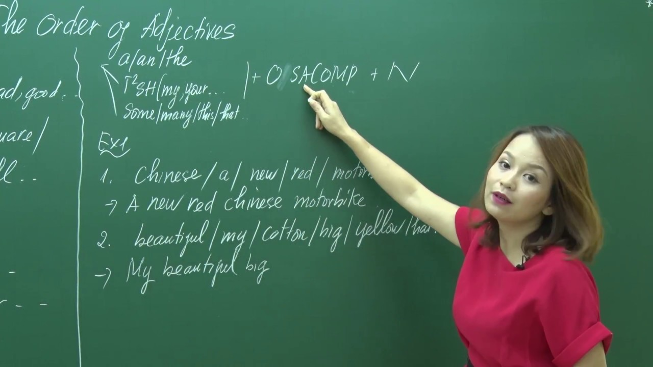 [Cô Trang Anh] – Trật tự tính từ