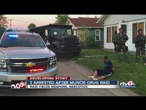 3 arrested after Muncie drug raid
