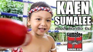 Muay Thai Baby! Kaen Sumalee (2 yrs old) training at Sumalee Boxing Gym, Phuket, Thailand
