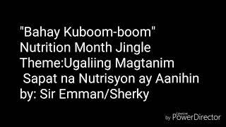 Bahay Kuboom boom Nutrition Month Jingle karaoke