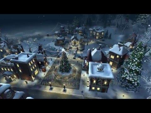 АНИМАЦИЯ НОВОГОДНЯЯ ЁЛКА НА ПЛОЩАДИ футаж HD скачать 2016 free ANIMATION Christmas tree SQUARE
