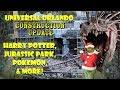 Universal Orlando Resort Construction Update 12.13.18 Potter, Jurassic, Pokemon, & More!