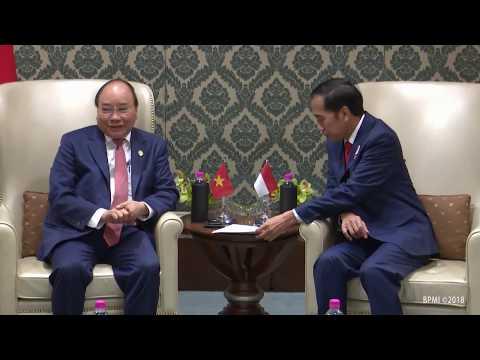 Pertemuan Bilateral Jokowi dengan PM Republik Sosialis Viet Nam