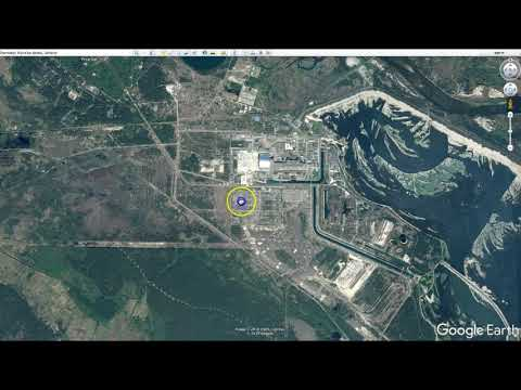 Chernobyl Nuclear Meltdown location from Google Earth