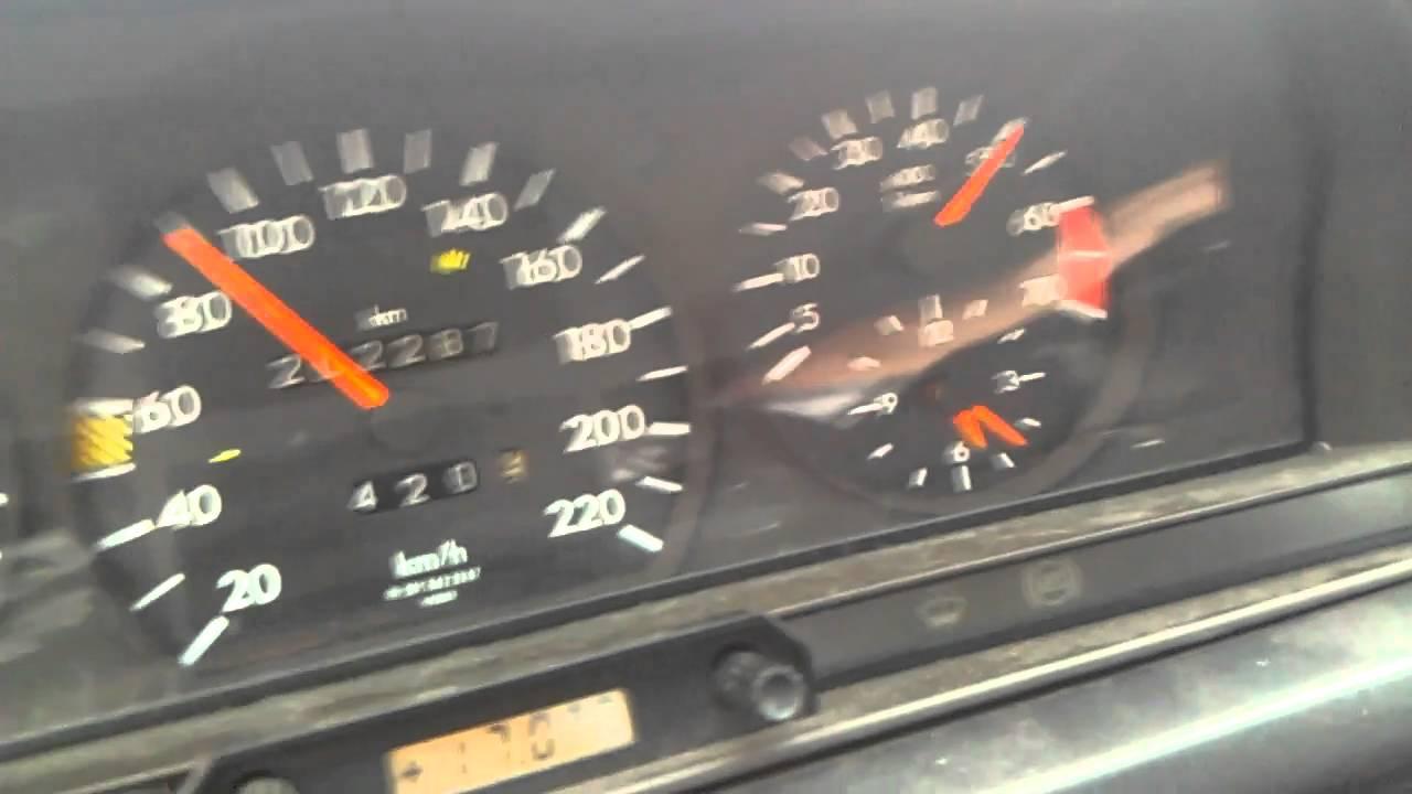 Mercedes W201 190e 1 8 Beschleunigung Acceleration Speedo