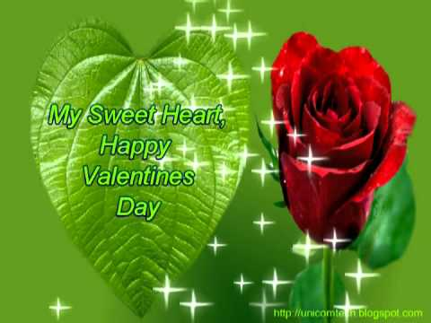 Valentines Day Rose For My Sweet Heart Valentines Day E Card Youtube