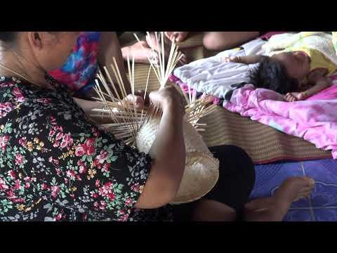 Basket weaving in Thailand.