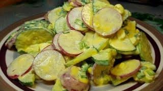Легкий весенний салат с редисом! Простой салатик для ежедневного приготовления!