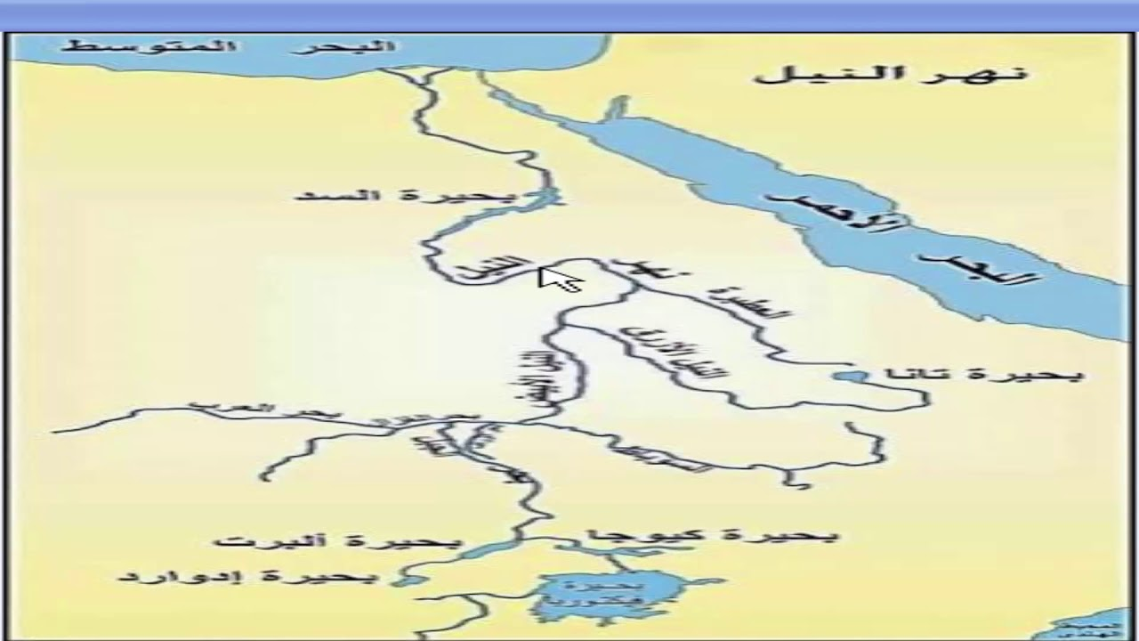 درس الجغرافيا شرح منابع نهر النيل اعداد وتقديم أ سيد سعد البحيرى Youtube