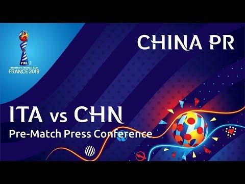 ITA v. CHN - China PR Pre-Match Press Conference