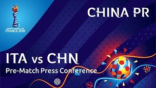 ITA v. CHN - China PR Pre-Match Press Conference
