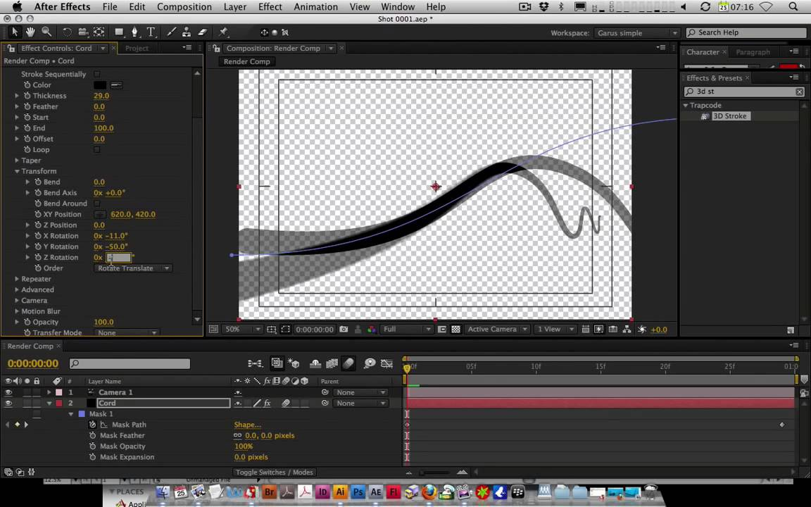 After effects tutorial after effects 3d stroke 2