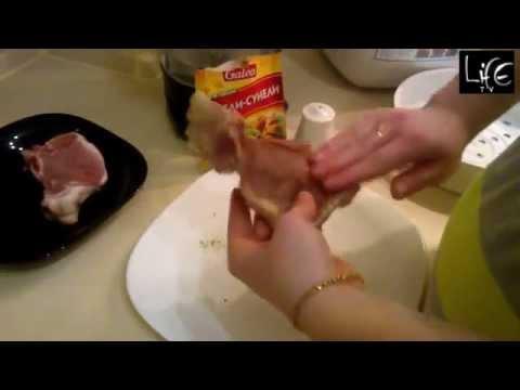 Свинина на пару в мультиварке(рецепт)
