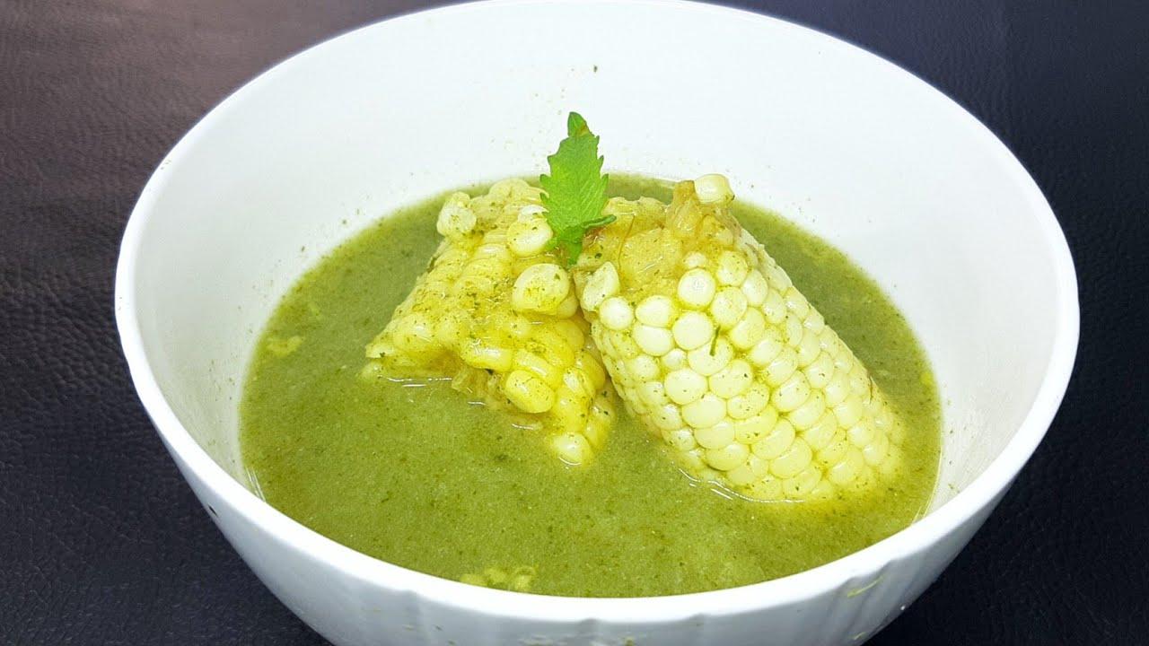 receta de chileatole verde facil y rapido   esquites verdes   comiendo rico y facil