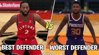 Best Defender In The NBA Vs Worst Defender In The NBA!  NBA 2K19 Challenge!