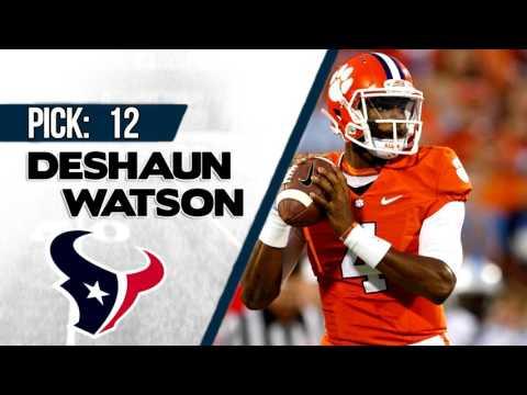 HOUSTON TEXANS SELECT DESHAUN WATSON 12TH OVERALL   2017 NFL DRAFT