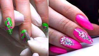 Коррекция ногтей от начала до конца. Снятие старого дизайна, аппаратный маникюр, дизайн ногтей.