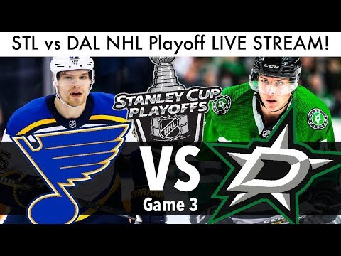 Blues Vs Stars NHL Playoff Game 3 LIVE STREAM! (Round 2 Stanley Cup Series STL/DAL Reaction)