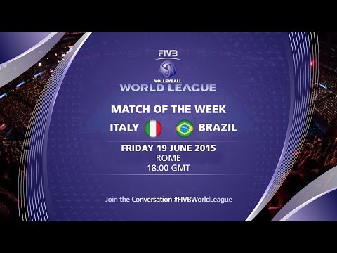 Live: Italy vs Brazil - FIVB Volleyball World League 2015