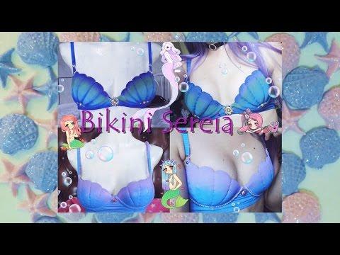 e151bc792 🌊👙 Bikini/Biquini formato concha, estilo sereia DIY PARTE FINAL ...