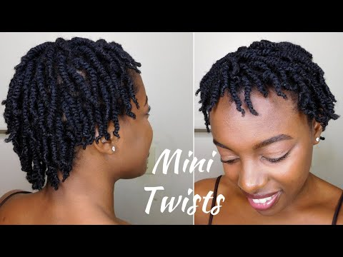 How To SUPER Juicy Mini Twists On Short 4C Natural Hair