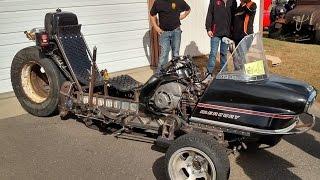 Bagged Rat Rod Trike: 190hp Snowmotrike?