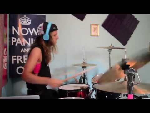 Shatter Me - Lindsey Stirling ft. Lzzy Hale (drum cover)