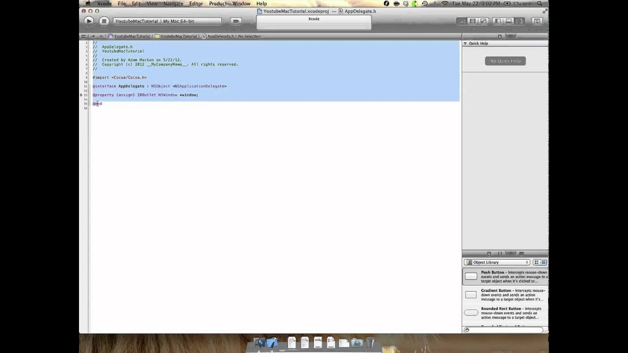 Mac Development Tutorial 1 (OSX 10 7 4