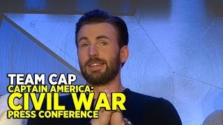 "FULL ""Captain America: Civil War"" press conference (PART 2: TEAM CAP) with cast and directors"