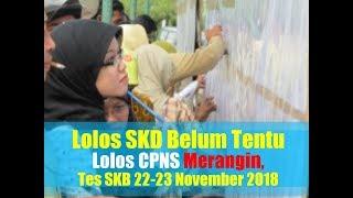 Lolos SKD Belum Tentu Lulus CPNS Merangin, Tes SKB 22-23 November 2018
