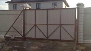 видео Конструкции откатных ворот и как их осуществить.