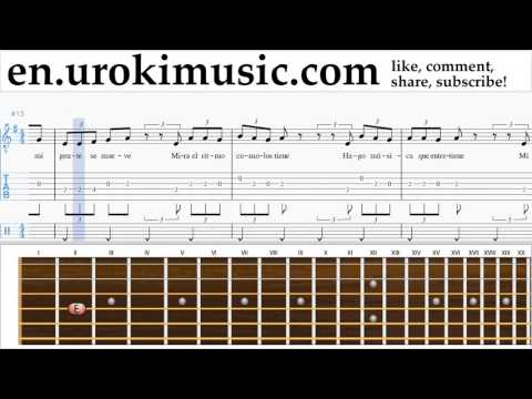 How to Play Guitar J. Balvin, Willy William - Mi Gente Tabs Part#2 um-i352
