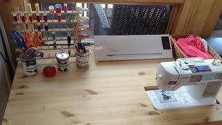 Sewing Table With Cutout For Sewing Machine