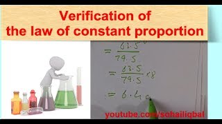 Verification of the law of constant proportion in a simple way - Basic Chemistry concepts
