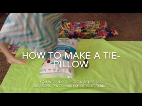 How to make a tie-pillow Crafty Creations