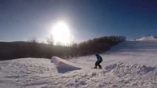 2014 snowboarding at Frostfire