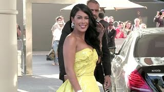 EXCLUSIVE - French Reality TV Star Ayem And Her Beautiful Yellow Dress In Cannes