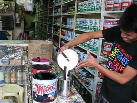 Dipolog City Paint Center Human Machine Mixing Color Youtube