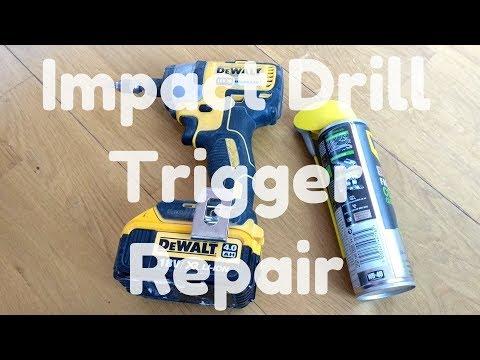Impact Drill Trigger Fix (Dewalt DCF886) - YouTube