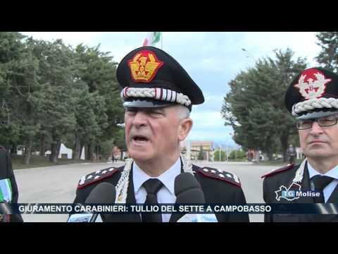 Giuramento Carabinieri, Tullio del sette a Campobasso