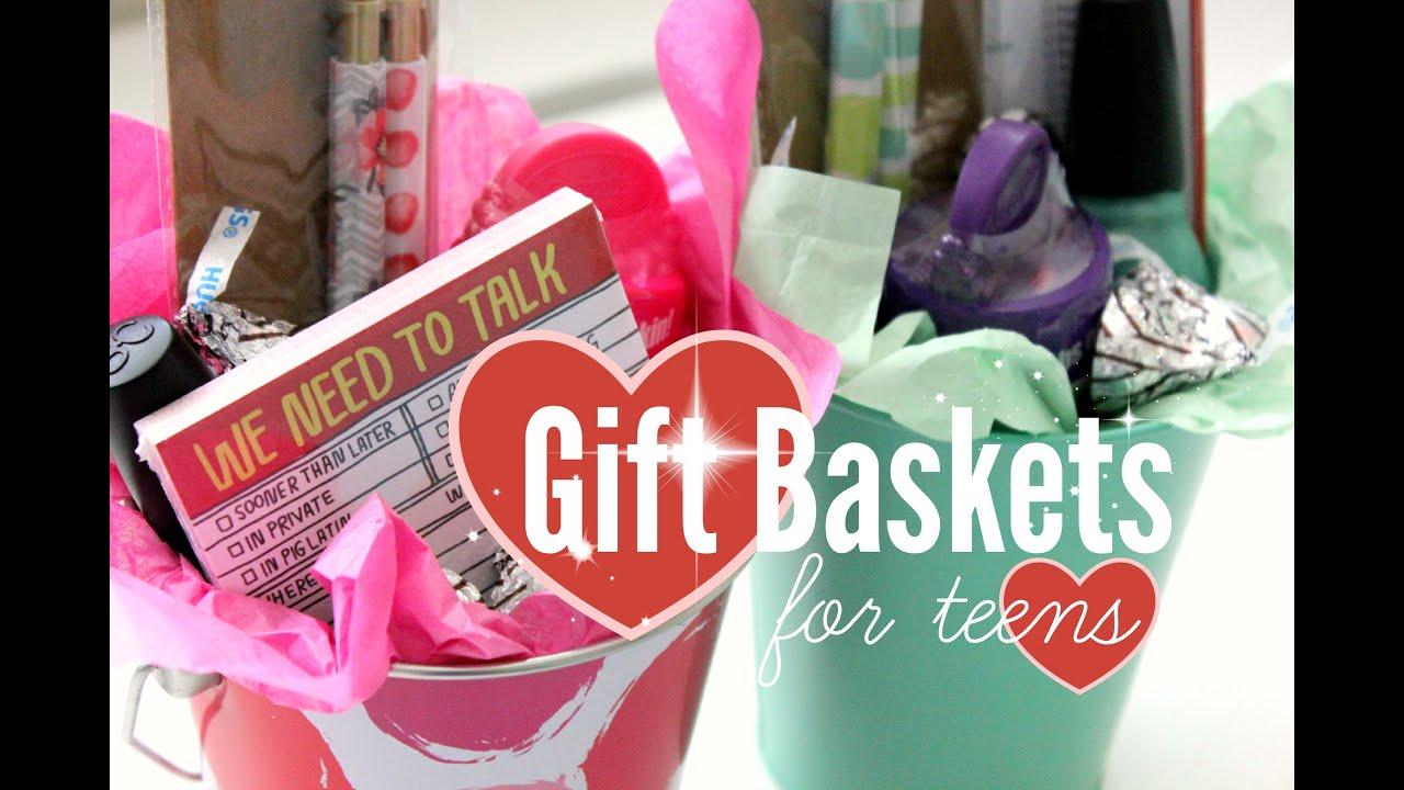 diy gift baskets for teens rachel republic youtube