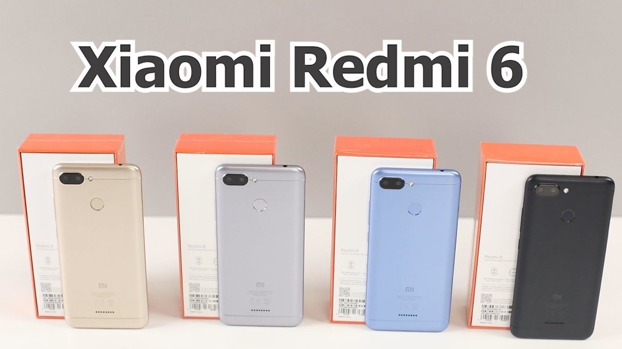 Распаковка Xiaomi Redmi 6 Global Version всех цветов  Обзор