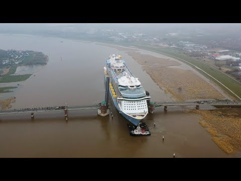 Spectrum of the Seas leaves Meyer Werft shipyard