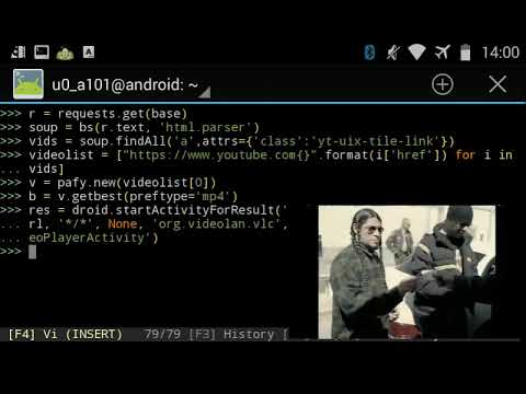 WATCH YOUTUBE [VIDEO STREAMS] FROM TERMINAL